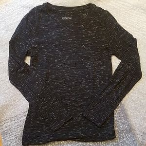 Heathered Black Longsleeve
